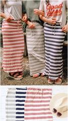 Maxi Drawstring Skirts