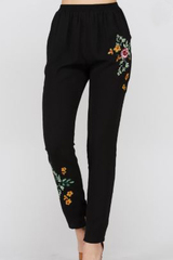 Embroidery Detail Pants