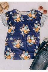 Madelyn Floral Mix Print Top