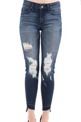 Distress Hi Lo Kancan Denim