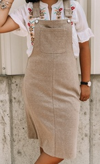 Taupe Overall Dress