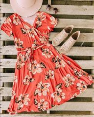 Ruby Floral Wrap Dress