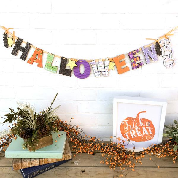 Halloween Boo Wood Swag