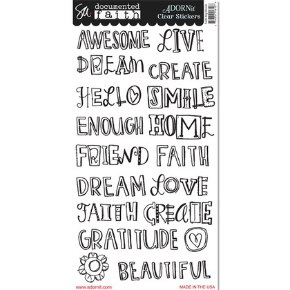 Faith Big Words Clear Sticker