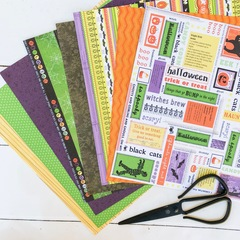 Funky Halloween paper pack
