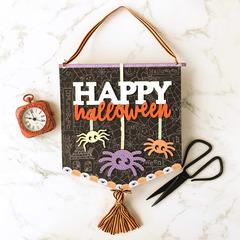 Happy Halloween Spider Plaque