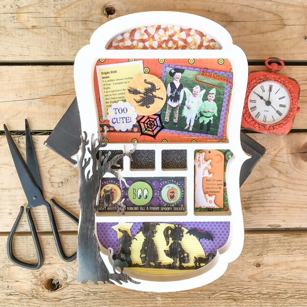 Halloween Shadow Box Collage Kit