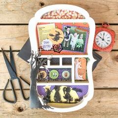 Halloween Shadow Box Collage Kit