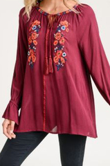 Tahlia Tassel Embroider Top