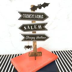 Spooky Crossroads Table Sitter