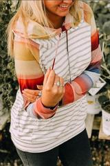 Raglan Double Stripe Hoodie