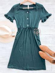 Daphne Ruffled Sleeve Dress
