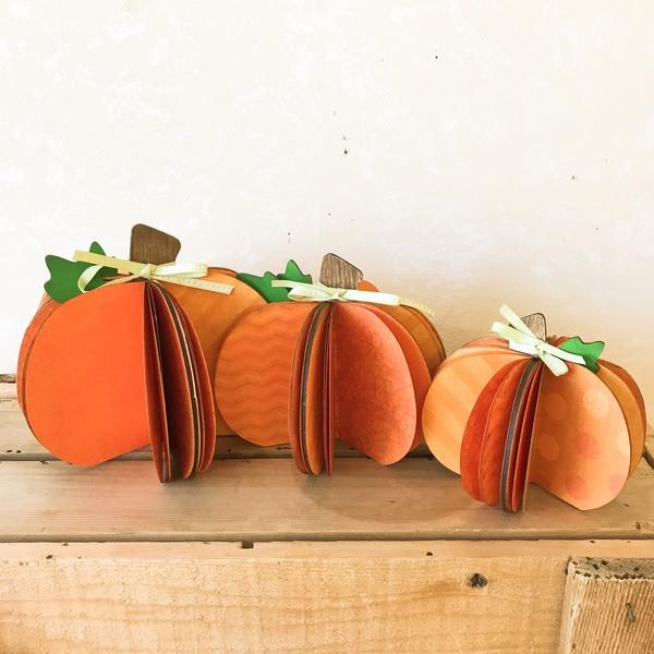 Dimensional Pumpkin Sitters
