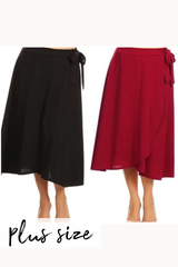 PLUS Waverly Wrap Skirt