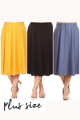 PLUS Sybil Midi Skirt