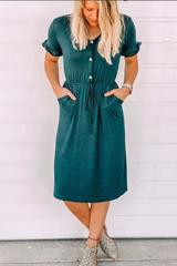 Daphne Ruffled Sleeve Dress