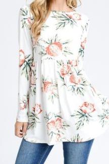 Anastasia Floral Peplum