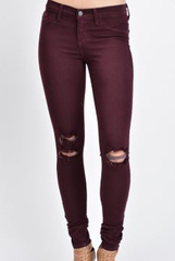 Burgundy KanCan Denim