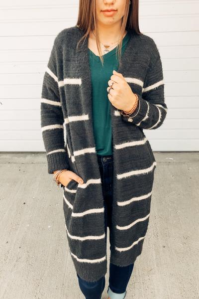 Gwen Stripes Cardi