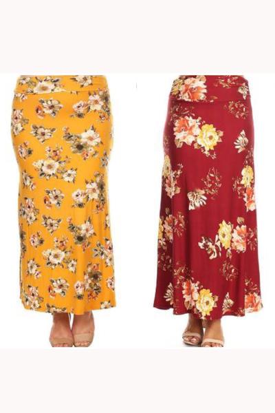 Skyla Floral Maxi Skirt