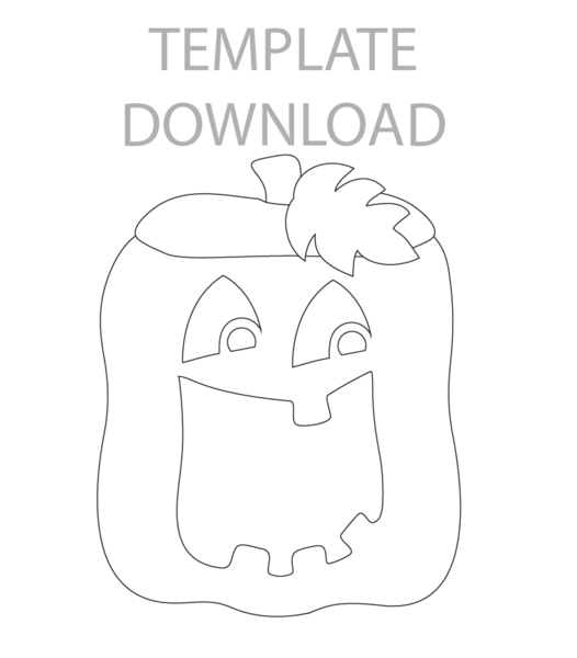 Pumpkin Caddy Template Download