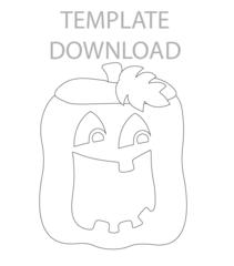 Pumpkin Caddy Template Download