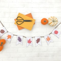 Fall Leaves Pennant Swag
