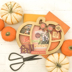Fall Pumpkin Shadowbox