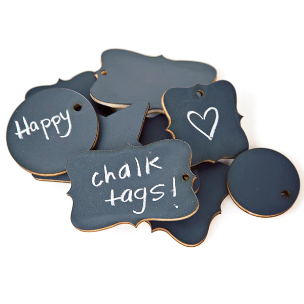 Chalkboard tags set of 9