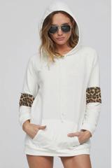 Leopard Stripe Hoodie