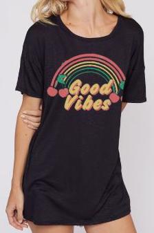 Good Vibes Rainbow Tee
