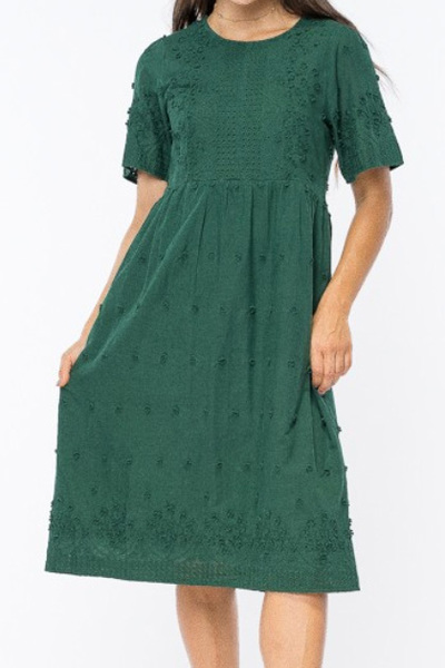 Mayberry Crochet Midi Dress