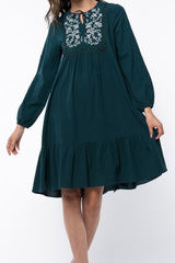 Lynette Embroider Midi Dress