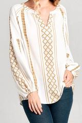Loretta Stand Collar Blouse