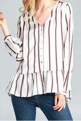 Avery Hem Button Down Top