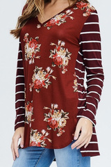 Maroon Autumn Top