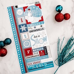 Snow Snow Snow Cardstock Sticker