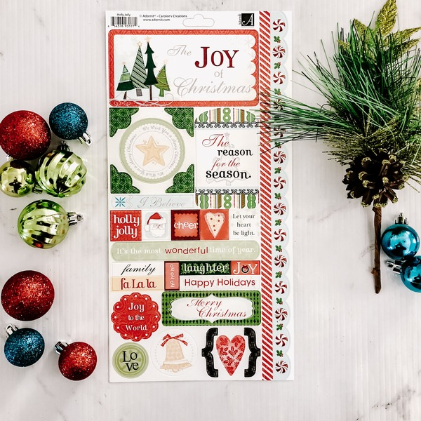 Holly Jolly Cardstock Sticker