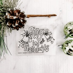 Holiday Ring - Clear Stamp