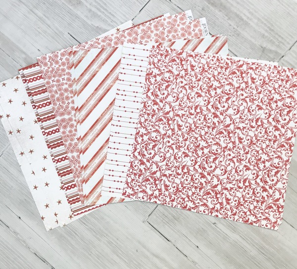 Candy Cane Christmas Paper Pack