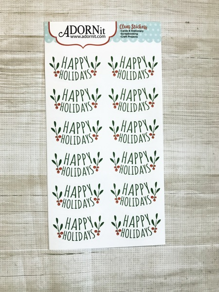 Happy Holidays Repeat Clear sticker