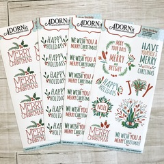 Holiday clear sticker bundle