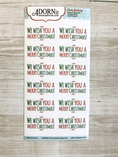 We wish you a merry Christmas Clear sticker