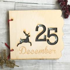Christmas Wood Photo Album