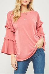 Cyrus Double Ruffle Top