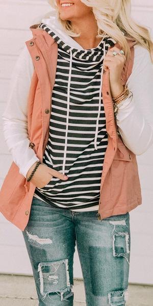 B&W Stripes Hoodie