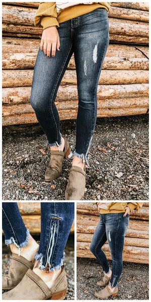 Ankle Detail Denim