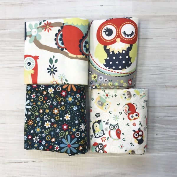 Owl Fat Quarter Set (4)