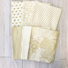 Gold Shimmer Half Yard Set