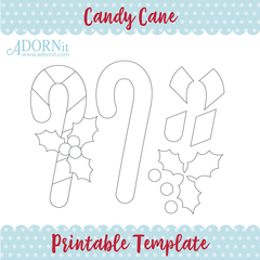 Candy Cane - Printable Template Instant Digital Download